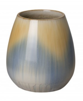 Small Ombre Cup Ceramic Planter - Rain Blue Glaze