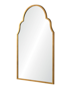 Grace Arched Mirror - Antiqued Gold
