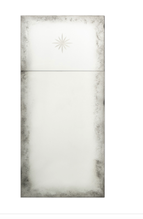 Antiqued Trumeau Mirror with Etched Star - Available in 2 Sizes