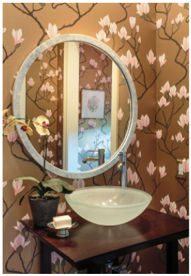 Pearl Shell Round Mirror