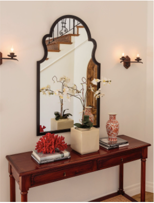 Cathedral Arched Mirror - Black
