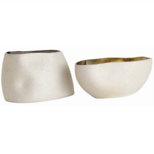 Arteriors Vanessa Cream Centerpiece Bowls - Set of 2