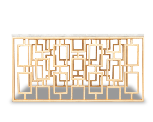 Links Coffee Table - Gold Leaf (4 Finishes & 3 Top Options)