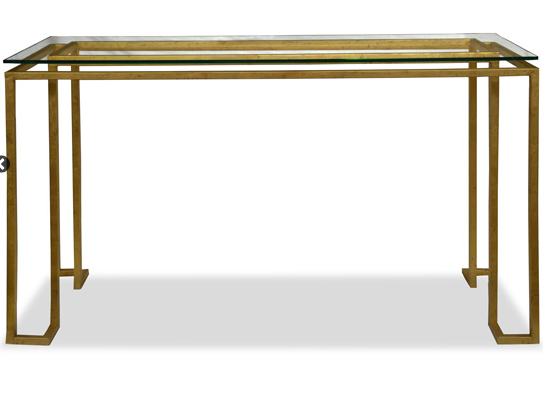 Linear Console Table - Gold(4 Finishes & 3 Top Options)