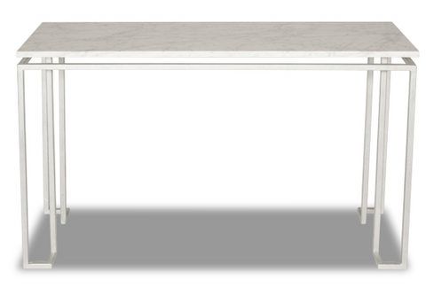 Linear Console Table - Silver Leaf (4 Finishes & 3 Top Options)