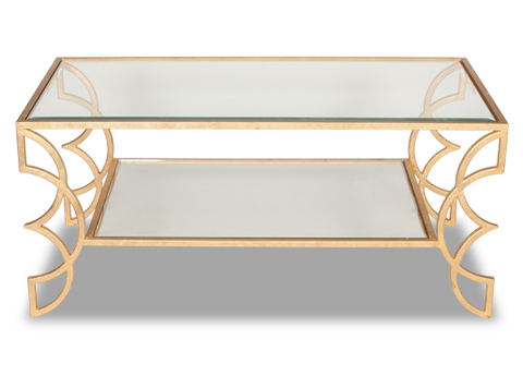 Flair Coffee Table - Gold (4 Finishes & 2 Top Options)