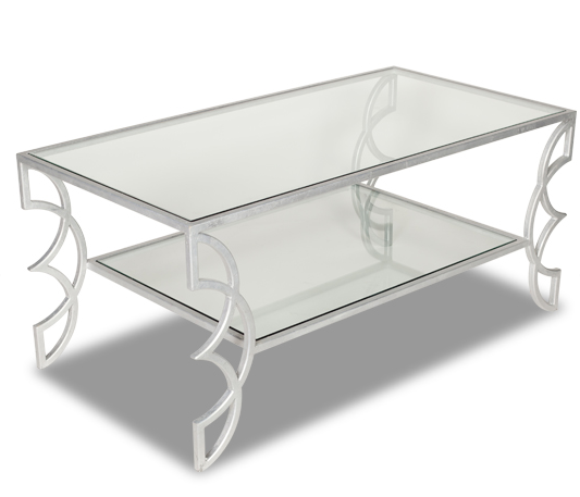Flair Coffee Table - Silver (4 Finishes & 2 Top Options)