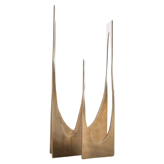 Arteriors Abstract Square Duke Sculpture - Antique Brass