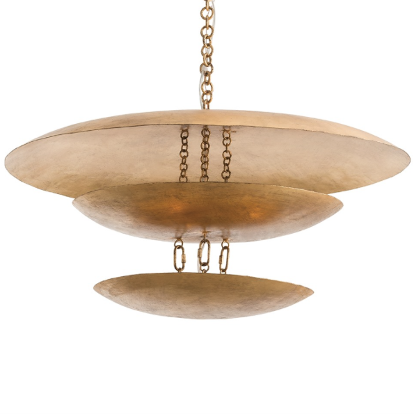 Arteriors Florko Floating Disk Chandelier - Gold Leaf