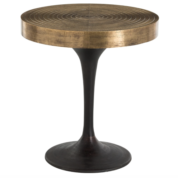Arteriors Daryl Carved Ring Side Table