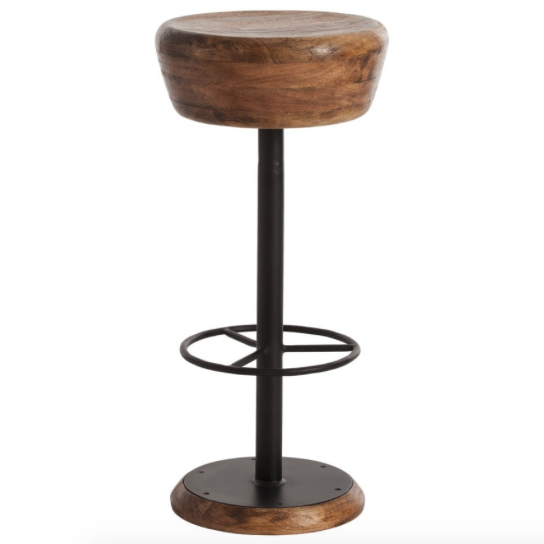 Arteriors Caymus Natural Wood Barstool