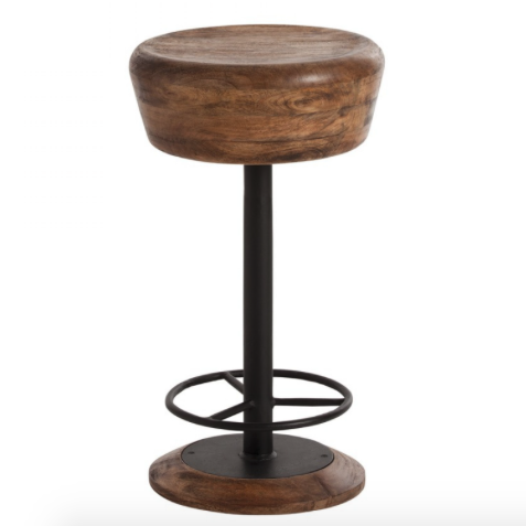 Arteriors Caymus Natural Wood Counter Stool