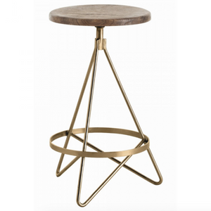 Arteriors Wyndham Minimalist Triangular Counter Stool
