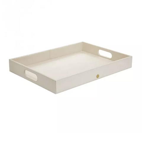 Rectangular Tray with Handles - Ivory Silk