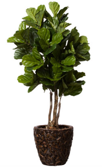 Faux Fiddle Leaf Potted Tree