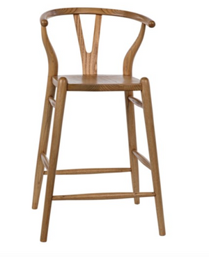 Noir Zola Counter Stool - Natural
