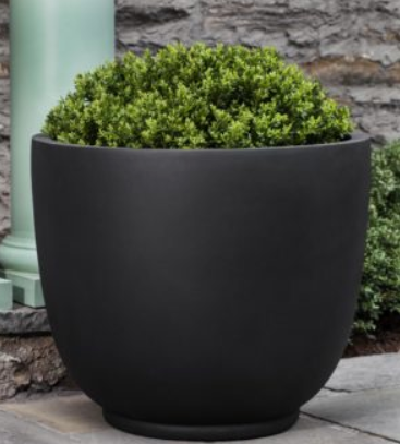 Simplicity Round Indoor/Outdoor Planter - Matte Onyx Black (4 Sizes)
