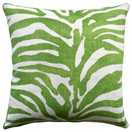 Zebra Stripe Pillow – Green