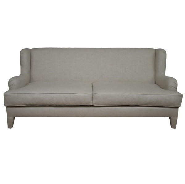 Simplicity Transitional Sofa - Grey Linen (Other Colors Available)