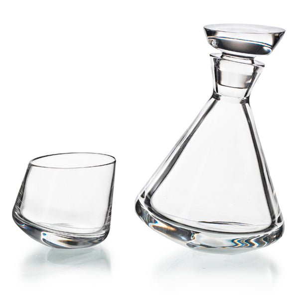 Slant Crystal Decanter Set