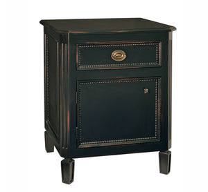 Swedish One Drawer Nightstand - Black (See More Finish Options )