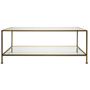 Worlds Away Taylor 2 Tier Rectangular Coffee Table – Bronze