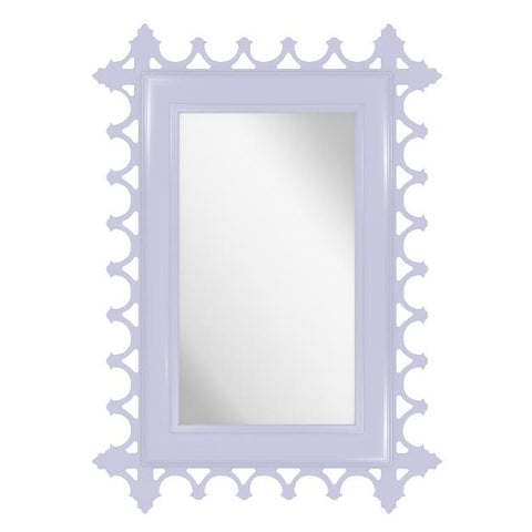 Tini Newport Decorative Lacquer Mirror – Iris Blue (19 Colors Available)