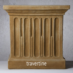Cast Stone Directoire Square Planter - Lead Antique (Additional Patinas Available)