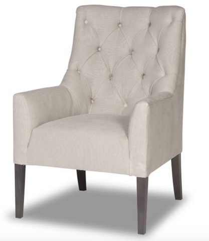 Tufted Flair Armchair- Natural Linen (Other Colors Available)