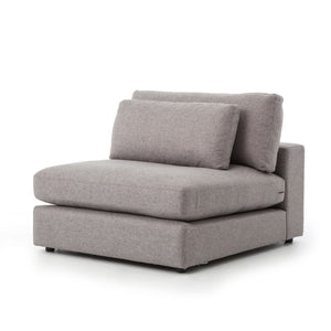 Bloor Sectional Armless - Chess Pewter Upholstery