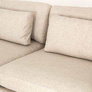 Bloor 4-Piece Right Arm Facing Sectional With Ottoman - Essence Natural