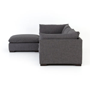 Westwood 3 Piece Sectional With Ottoman Bennett Charcoal