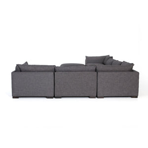 Westwood 6 Piece Sectional With Ottoman Bennett Charcoal
