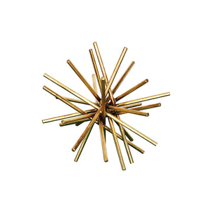 Worlds Away Gold Leaf Iron Urchin