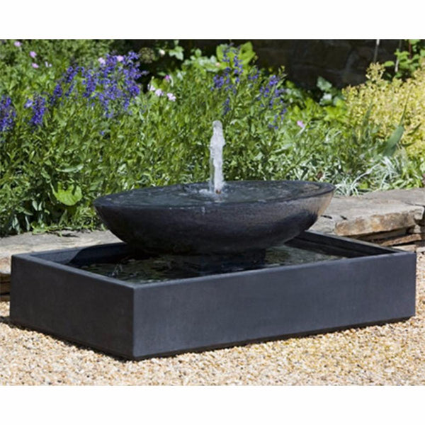 Recife Tiered Stone Fountain - Dark Brown Patina
