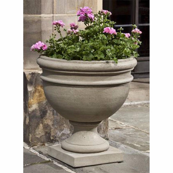 Ring Footed Planter - Verde Patina
