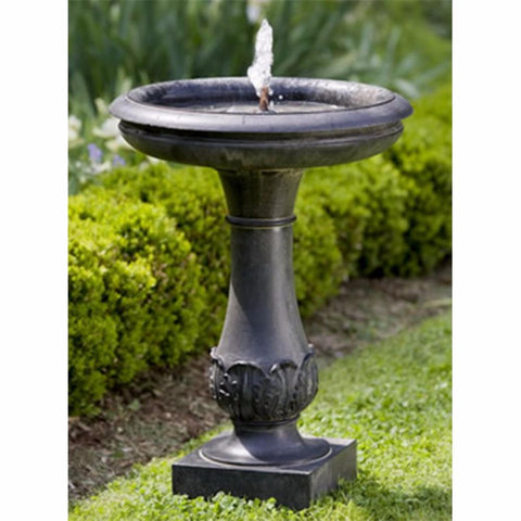 Classical Stone Fountain - Dark Brown Patina
