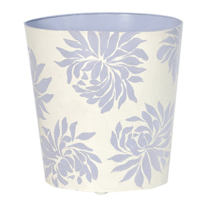 Worlds Away Floral Hand-Painted Wastebasket – Lavender