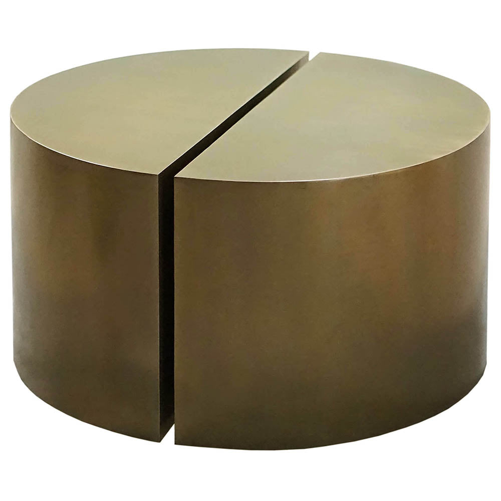 - Worlds Away Paired Semi Circle Antique Bronze Accent Tables – Set