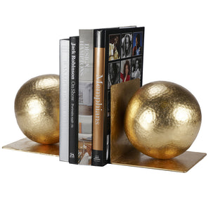 Worlds Away Iron Ball Bookends – Gold Leaf