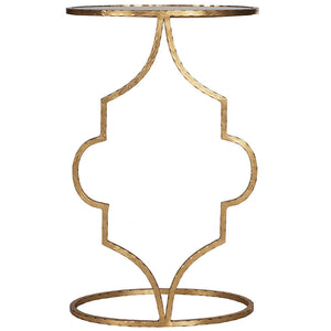 Worlds Away Iron Mirror Cigar Table – Gold Leaf