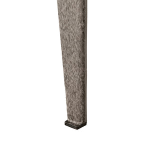 Bungalow 5 Winston Stool, Gray Hair-On-Hide