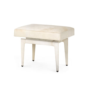 Bungalow 5 Winston Stool, White Hair-On-Hide