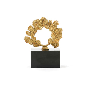 Bungalow 5 WREATH STATUE, GOLD