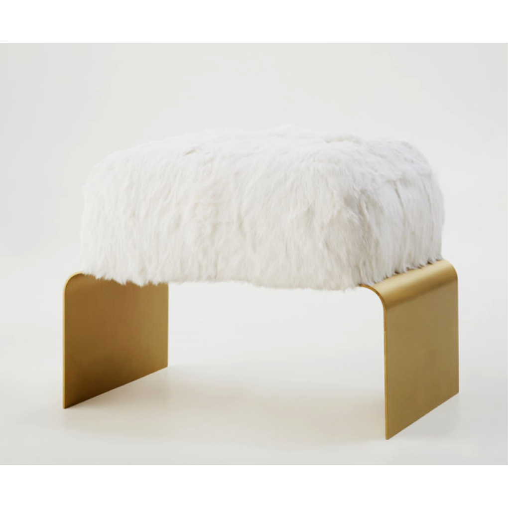 Arch Fur Bench - Natural