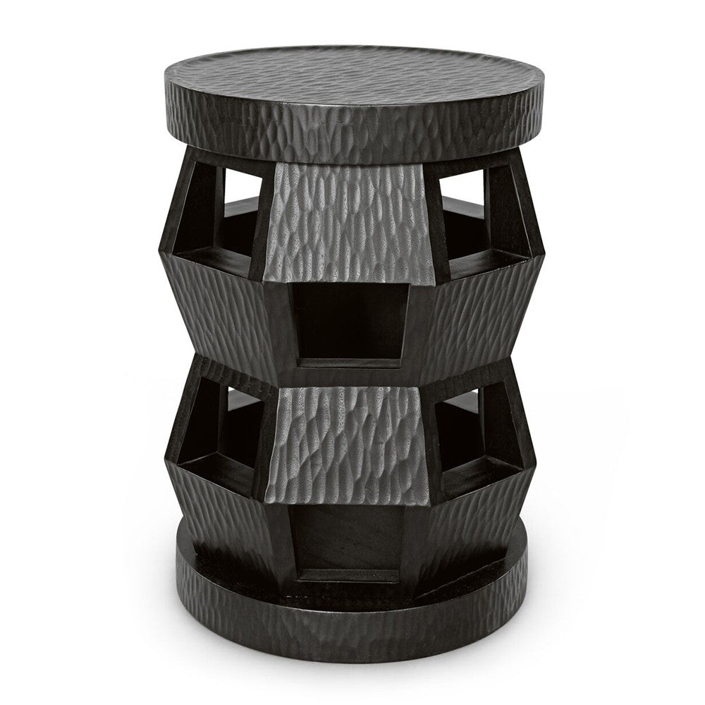 Bungalow 5 Zanzibar Stool/Side Table – Black