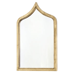 Worlds Away Small Moroccan Mirror – Gold Leaf