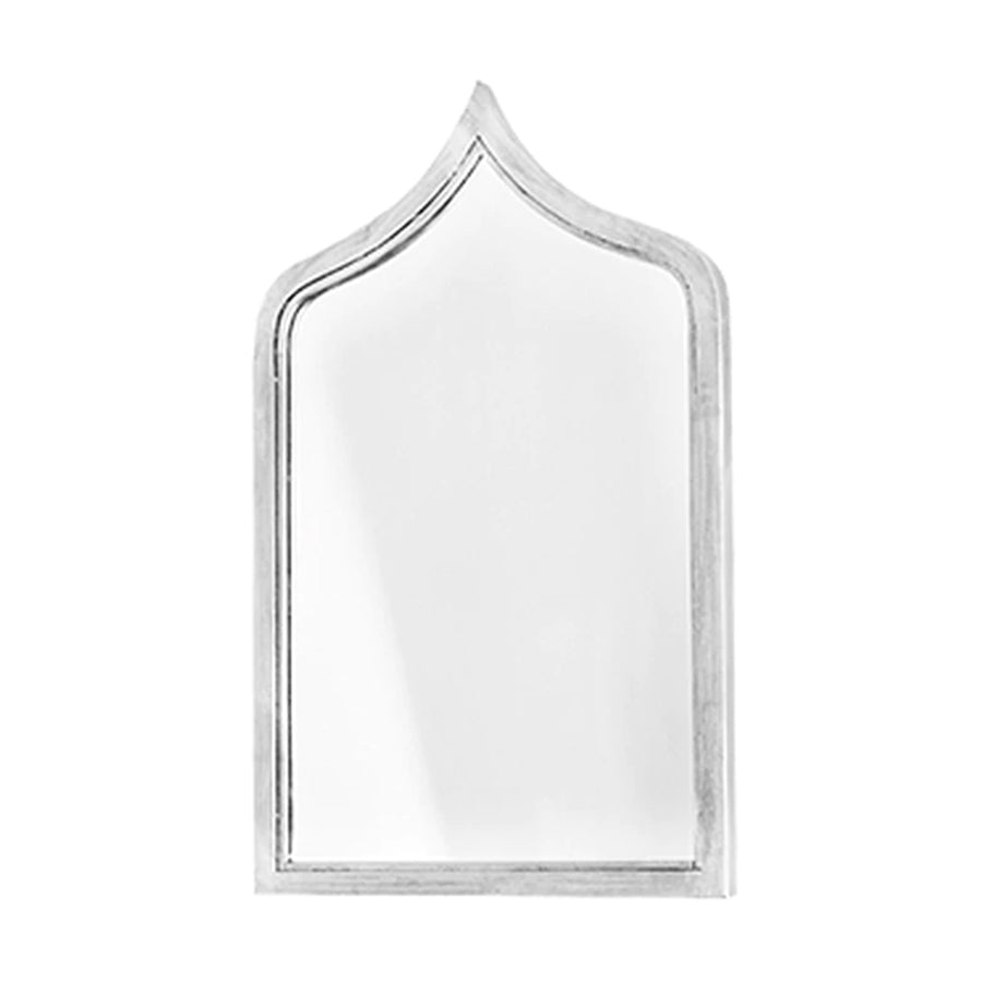 Worlds Away Small Moroccan Mirror – Silver Leaf