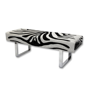 Zebra Pattern Hide Bench