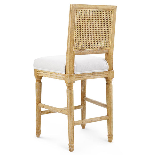 Bungalow 5 Cane Back Oak Counter Stool — Natural